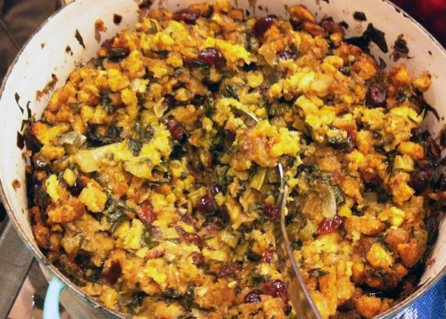 cranberry spinach stuffing